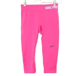 Nike Pro Dri Fit Pink Tight Legging Cropped S